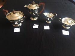 VINTAGE ENGLISH 4 PIECES  STERLING SILVER TEA SET