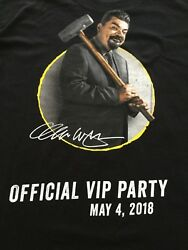 George Lopez T Shirt Black Large The Wall Chingon Kitchen San Manuel Casino