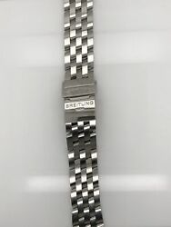 Breitling Pilot Silver Stainless Steel Band Strap Bracelet 20-18mm 366a