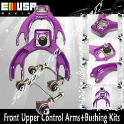 Front Upper Arms+bushing For 94-01 Integra 92-95 Civic 93-97 Civic Sol Eg Purple