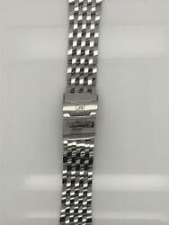 Breitling Silver Stainless Steel Strap Deployment Buckle 22-18mm 433a