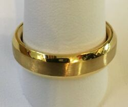 18k Y Gold Modified Knife Edge 5.8mm Wide Menand039s Wedding Band Size10