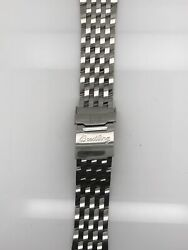 Breitling Silver Stainless Steel Strap Deployment Buckle 22-18 Mm 424a