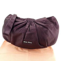 miumiu Clutch bag Brown Woman unisex Authentic Used T3131