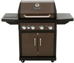 Dyna-Glo Gas Grill 4-Burner Electronic Ignition Heat Thermometer Bronze
