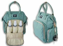 Jumping Daisy Large Baby Backpack Diaper Bag for Women or Men -(Sea Green)