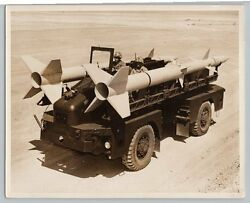 1950's AAC TERRIER MISSILE CARRIER Vintage OFFICIAL US MARINE CORPS Photo