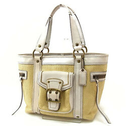 Coach Shoulder bag Beige White Woman Authentic Used Y2706