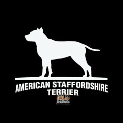 AMERICAN STAFFORDSHIRE TERRIER Vinyl Sticker AKC Register Groomer Rescue I LOVE