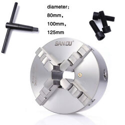 Precision 4 Jaw Lathe Chuck Self-centering Hardened Metal Drilling Milling 100mm