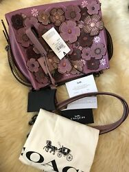 NWT Coach 1941 Rogue 25 With Tea Roses 58840 Dusty Rose Shoulder Hand Bag