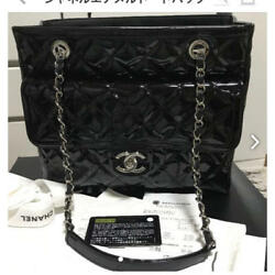 USED Chanel Patent Tote Bag free shipping Japan Very popular Famous ladies woman