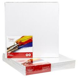 CANVAS PANELS 12 PACK 8quot;X8quot; SUPER VALUE PACK Artist Canvas Panel Boards for... $18.99