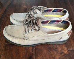 Womens Sperrys Top Sider Size 8.5 Regular Light Brown Leather Flats Casual Boat