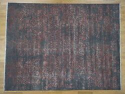 9and0392x12and039 Wool And Silk Broken Persian Heriz Design Hand Knotted Rug G41304