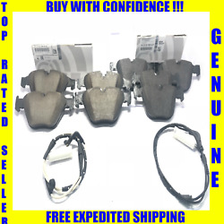 Bmw Front And Rear Brake Pad Sets With Sensors 330ci 330i 330xi X3 Z4 Genuine