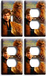 Star Wars Han Solo Story Chewbacca Pilot 1 Light Switch 3 Outlet Wallplate Cover
