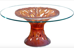 Daum Table Vegetal 05392-2 Amber Beautiful Crystal Table French