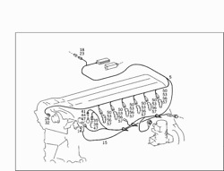 A1405401132 | Oem Mercedes-benz Engine Wiring Harness For Fuel Injection System