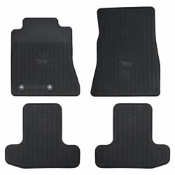 OEM NEW 2015 2020 FORD Mustang Front amp; Rear All Weather Floor Mats Set Black
