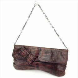 miumiu Clutch bag Brown Woman Authentic Used T6007