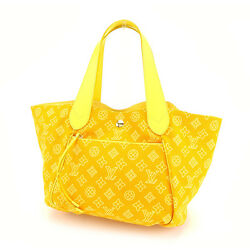 Louis Vuitton Tote bag Monogram Yellow Woman Authentic Used Y3797