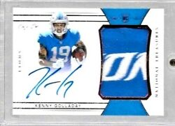 2017 National Treasures Red Kenny Golladay 2 Color Logo Jersey Auto Rc True 1/1