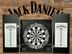 Jack Daniels Old No. 7 Dartboard, Cabinet And Darts Set - Tennessee Whiskey