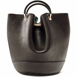 Massimo Dutti Women Limited edition leather bucket bag with gold detail 6910 ...
