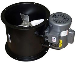 Spray Booth Fan W/ Motor-12 Tube Axial - 1100 Cfm - 1 Phase Motor Made In Usa