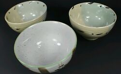 Chinese Wcl Set Of 3 Pasta Noodle Rice Bowls Oriental Cuisine