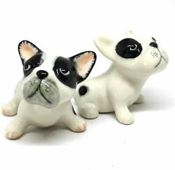 Figurine Miniature Dog French Bulldog Puppies Animal Ceramic Figurines