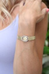 Ladies Vintage Movado Gold And Diamond Watch In 14k Yellow Gold