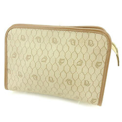 Dior Clutch bag Beige Brown Woman unisex Authentic Used T2161