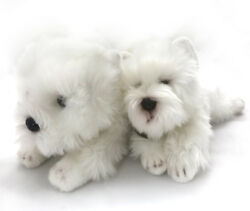 WEST HIGHLAND TERRIER DOG MOM + BABY  Plush Stuffed Applause Russ Yomiko White