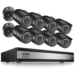 Zosi 16 Ch Channel H.265+ Dvr 8 1080p Surveillance Security Camera System Kit