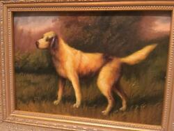 Country French Framed Oil Painting-Terrier