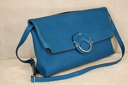 SUPPER GORGEOUS!!!  GHURKA  WOMEN BLUE CROSS-BODY SHOULDER BAG.MADE IN ITALY