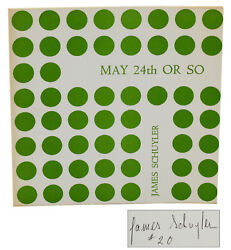 May 24th Or So James Schuyler Signed First Edition 1966 1/20 New York School