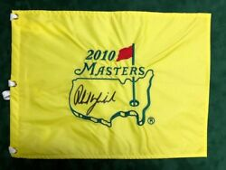 Phil Mickelson Signed Autograph Aftal Coa 2010 Masters Golf Flag Us Winner