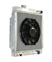 3 Core Performance Racing Radiator+12 Fan For 64-66 Ford Mustang Base V8 I6 Mt