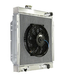 3 Core Performance Racing Radiator+10 Fan For 64-66 Ford Mustang Base V8 I6 Mt