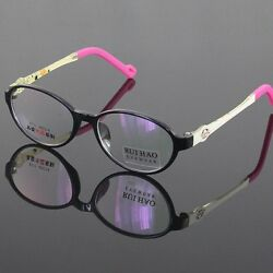 Kids Glasses Eyeglasses Eyewear for Children TR90 Black Frame Optical RX Lenses $12.99