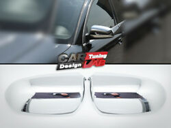 2006-2008 For Audi A4 B7 Chrome Door Mirrors Caps Covers Set