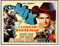 Movie Poster The Fourth Horseman 1932 Title Lobby Card 11x14 Vf 7.5 Tom Mix