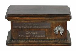 Kerry Blue Terrier (2) - Urn for dog's ashes with relief sentence low model
