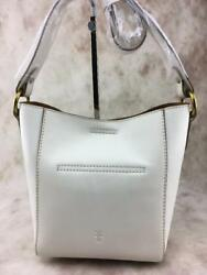 NWT Frye Leather Harness Crossbody Bucket Bag Off White