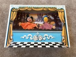 Vintage Puppets On Wooden Sticks - Mickey Mouse And Donald Duck