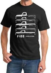 1953-77 Ford F100 F-100 Truck Evolution Outline Design Tshirt NEW FREE SHIPPING