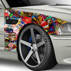 Cartoon - Autocollant Film Pour 3d Car-wrapping Conduit Andagrave Air Logos And Marques